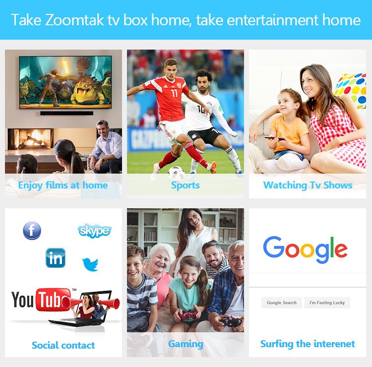 Octa Core Air Android 7.1 Internet TV IPTV Set Top Box Wifi
