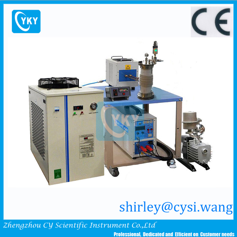15KW Induction Melting System with Auto-Temperature-Controller (Upto 1700C)growing crystal sintering new metallic alloys