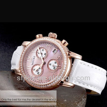 2016 New style mix color leather strap watches manufacturer in china