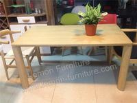 solid ash wood top quality hot sale square dining table for 8 peaple