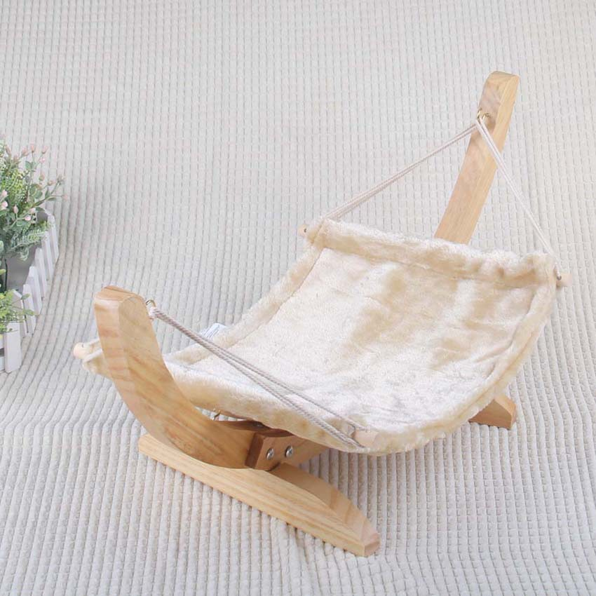 High class wooden pet bed cat hanging bed cat swing bed