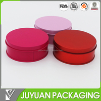 wedding gift round tin candy box/empty aluminum tin box for candy