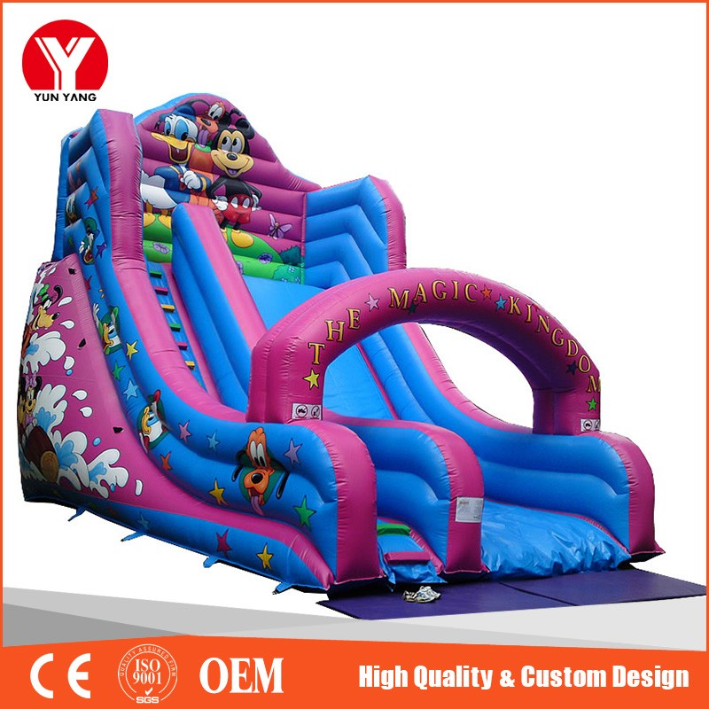 Fashion water slide inflatable, inflatable bouncer slide with arch