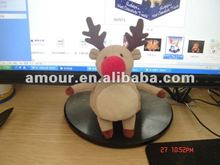 lovely soft christmas deer doll stuffed festival toy new toys for christmas 2013 kids gift for sale tree decoration doll