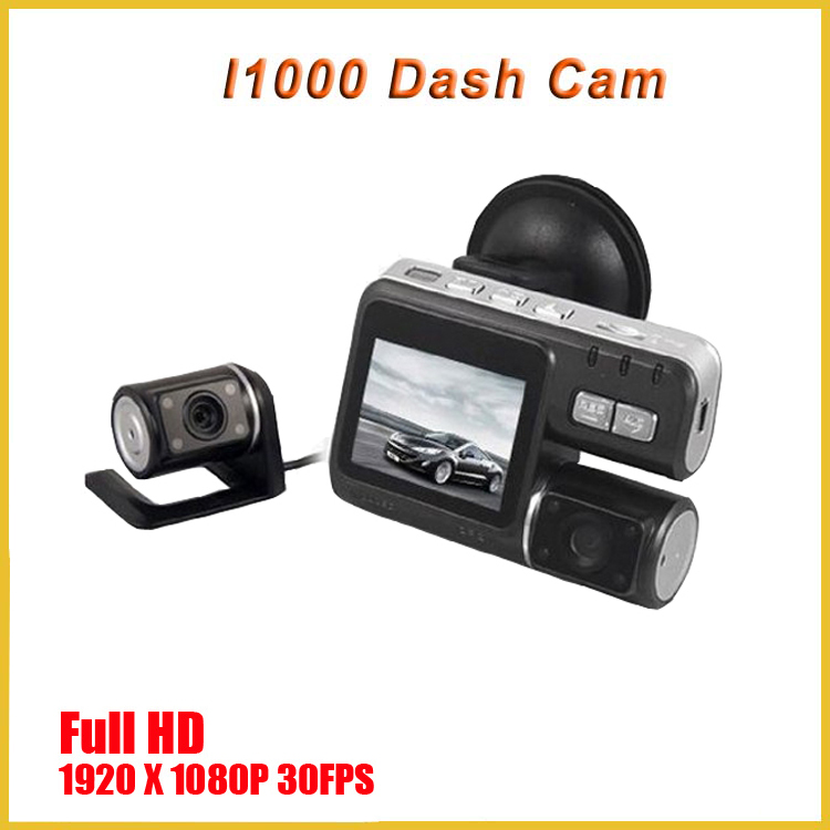 TOP SALES I1000 manual car camera hd dvr i1000 camcorder professional full hd 120 degree wide angle dual lens car camera