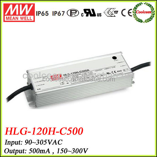 Meanwell HLG-120H-C500 500ma constant current dimmable led driver