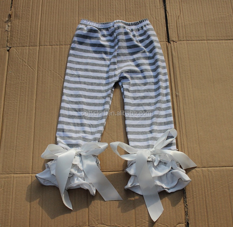 kids pants trouser jeans wholesale ruffle baby leggings kids clothing