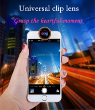 Factory Supply Universal Clip Detachable 3 In 1 Fish Eye Lens Kit Wide Angle Macro Optical Selfie Lens Cell Phone Camera Lens