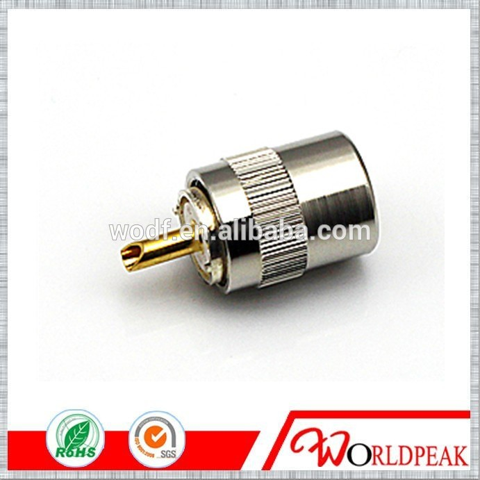 UHF male pl259 connector solder LMR400 cable connector tv socket