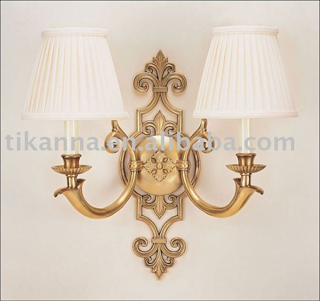 antique brass wall lighting