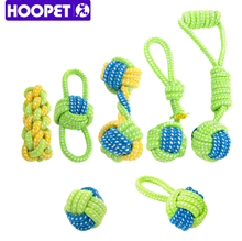 HOOPET Dog Toy Dog Chews Cotton Rope Knot Ball Grinding Teeth odontoprisis Pet Toys Large small Dogs