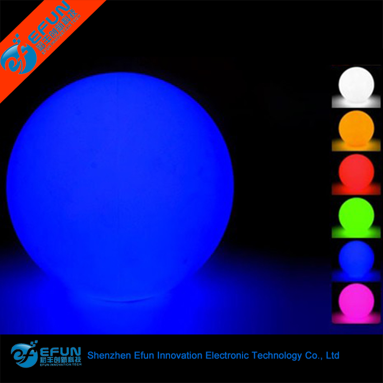DMX controller waterproof rgb color changing illuminated glowing solar power big led decoration light ball