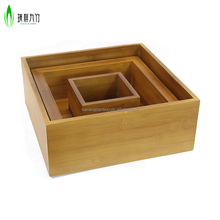 Hot sale moistureproof thai bamboo wood rice box for home