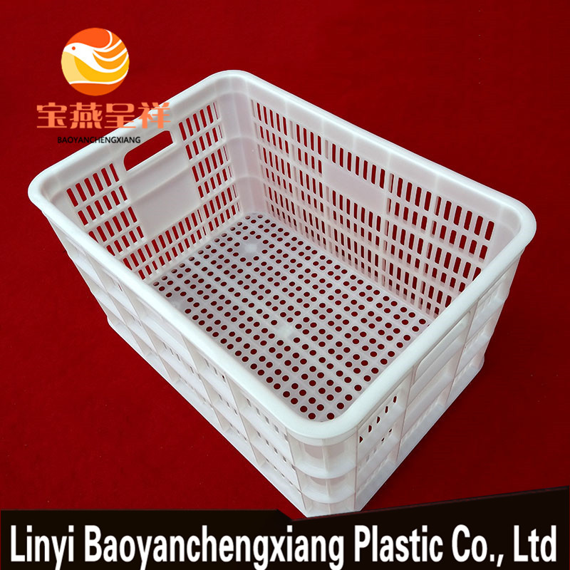 Milk foldable plastic collapsing folding storage crate