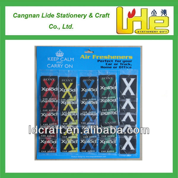 car air freshener sets,X air freshener card,scented cards
