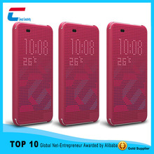 New Fashion Dot View Call ID Flip Cover case For HTC Desire 826