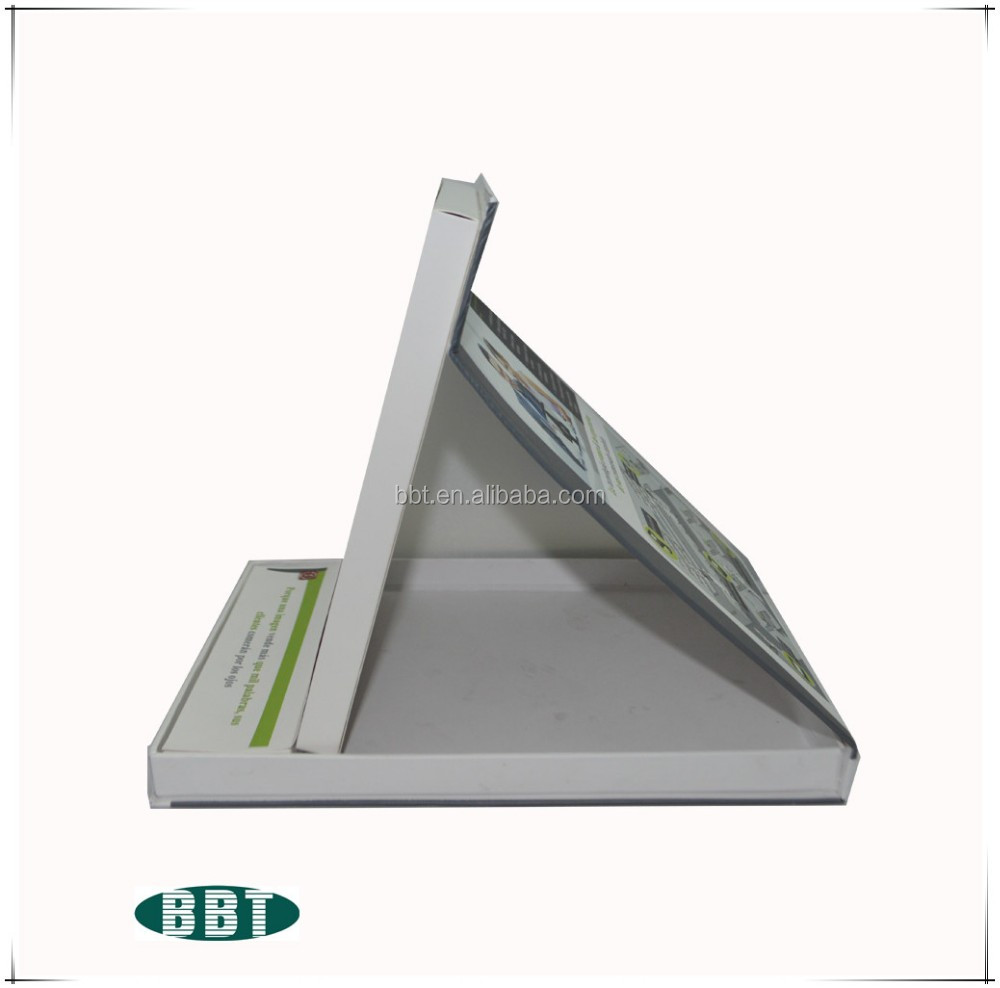 advertising and promotion 7inch pos display video brochure with stand factory supply