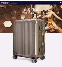 vip price vintage style aluminum lightweight trolley luggage six colors can customized