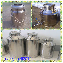 Stainless Steel Milk Can 40 liters (10 gallons) Locking Lid Dairy Cattle