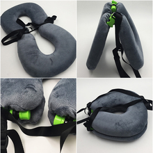 Hot Selling Portable Folding Memory Foam Soft Neck Support U-shape Travel Pillow for Travel