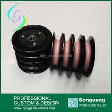 Nylon Flanged Guide Plastic Pulley With Ceramic Ring,winding machine pulley wheel