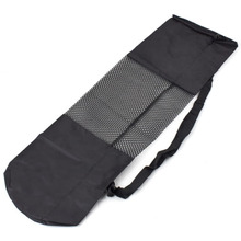 Yoga Bag Portable Yoga Mat Bag Nylon Carrier Mesh Black AE312 Nylon Bag