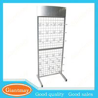 store hanging movable mesh display stand for hair accessories