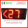 Aluminum alloy semi-outdoor 2 digit led counter