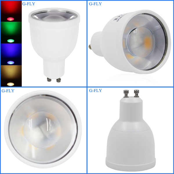 New design Aluminum MR16 LED blub 4W RGBW GU10 wifi led lighting spot light