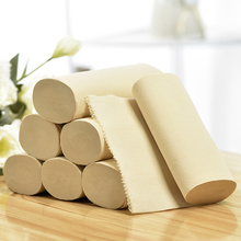 Unbleached Organic Bamboo Embossed Toilet Tissue Paper Roll