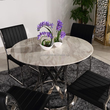 stainless steel marble dining table designs