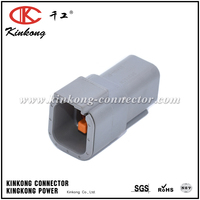 DUETSCH 6 pin male waterproof DT series type automotive electrical connectors