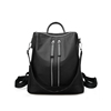 New fashion college style black color nylon 3 ways waterproof backpack bag women