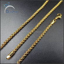 latest hip hop fake gold plated long chain necklace