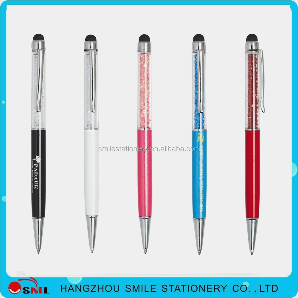 fashion brands best manufacturer metal crystal branded stylus pen