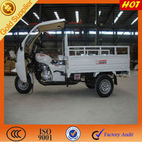 3 wheeler motorcycles with ABS canopy/ Gasoline cargo motor on sale