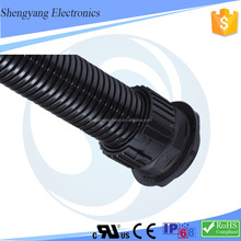 Shanghai Manufacturer Tolerate High Temperature Coupling joints Flexible Plastic Tube Wire Applicated