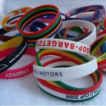 silicone gift hand rubber band bracelet for boys