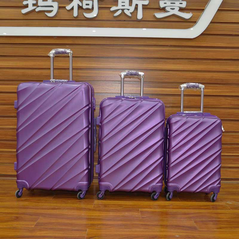 Best gift for luggage set protective trolley case with elastic luggage cover purple color travel luggage