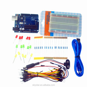 UNO R3 + breadboard 400 point + LEDs Starter Learning Kit for arduino
