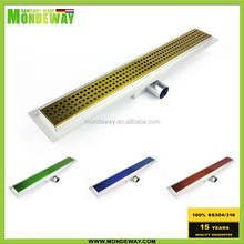 floor Plastic material luxury storm water shower run drain channel