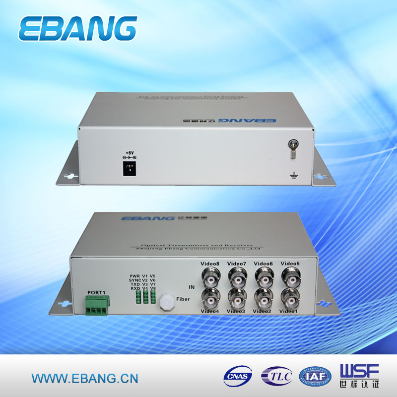 OEM service 8 channel video over fiber multiplexer, video mixer, video switcher mixer