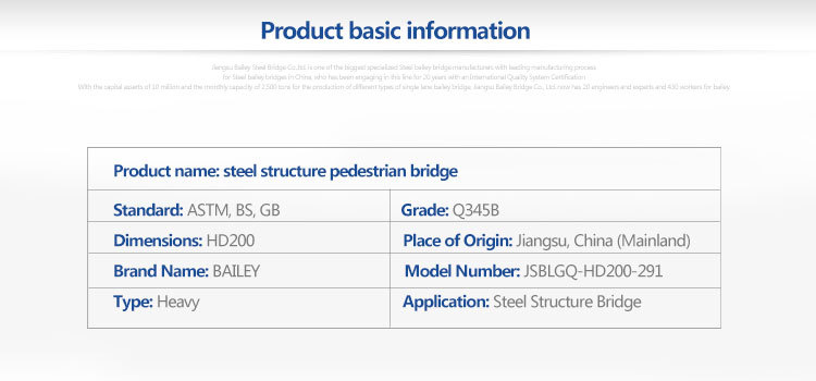 galvanized single lane bailey bridge for sale