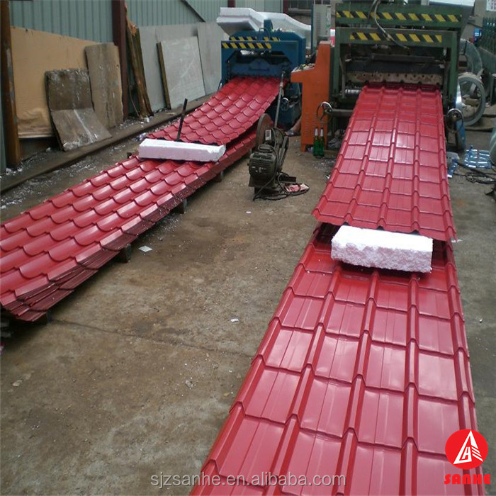 zinc coated colorful roofing steel corrugated sheet / sheet metal roofing for sale