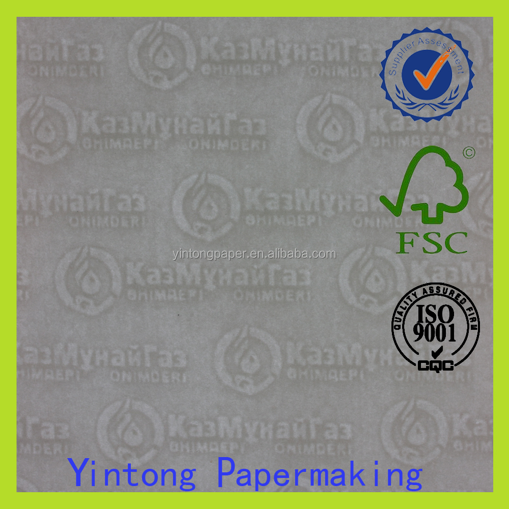 banknote cotton paper with watermark