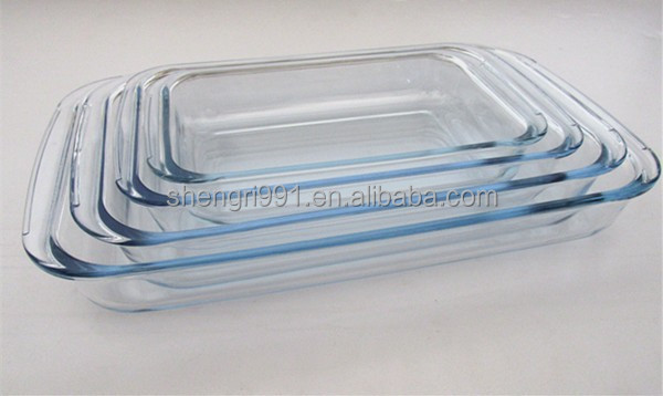 glass baking plate/dish /tray/pan boroilicate pyrex heat resistant glass baking dish microwave oven safe/glassware/glass kitchen