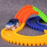 Glow track light-up race car magic track car toy
