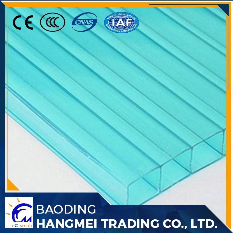 Hollow structure polycarbonate insulated roof sheets prices