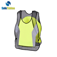 High visibility unisex breathable reflective vest running
