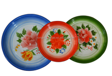 Cheap price enamel decorative plate, enamel plate, enamel round pan, enamel round tray